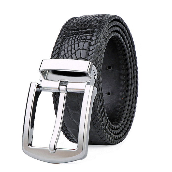Designed twisted leather belt