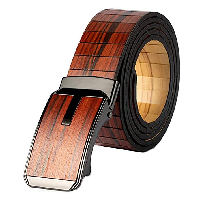 Wooden buckle belt
