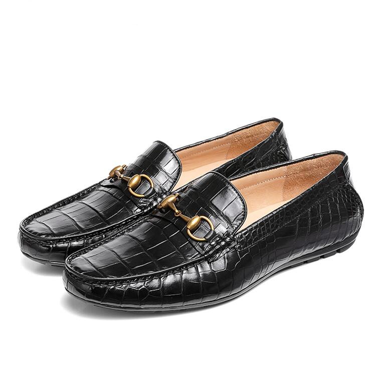 Alligator Penny Loafers Moccasin Slip-on Flats Boat Shoes Driving Shoes