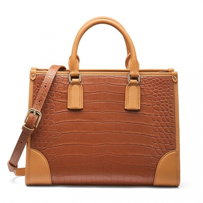 Alligator Satchel Handbags Shoulder Purses Work Bags for Women