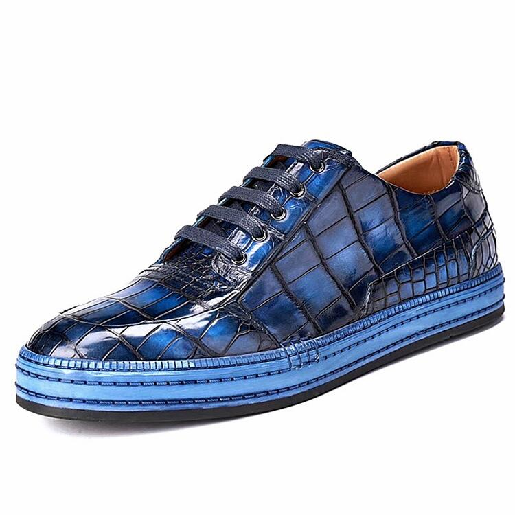 Premium Handcrafted Alligator Leather Lace-Up Sneaker