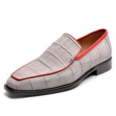 Casual Alligator Slip-on Loafers Timeless Alligator Shoes